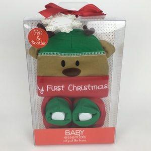 Baby Essentials | Baby 1st Christmas Hat & Booties